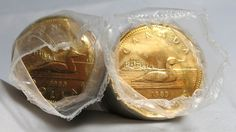 1989 Canada Loonie DOLLAR / 2 ROLLS - 50 Coins SEE VIDEO IN DESCRIPTION