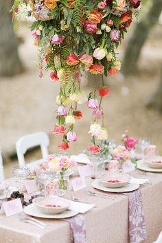 A floral-filled farmers market wedding styled shoot inspired by the bounty of spring by Brooke Aliceon Photography and Couture Events. Creative Wedding Inspiration, Wedding Flower Inspiration, Mod Wedding, Floral Wedding, Wedding Bells, Garden Wedding, Hanging Flowers Wedding, Wedding Organiser, Table Design