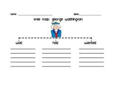 This is a Tree Map graphic organizer for George Washington.  This can be used on President's Day or during a Presidential unit.  It is in a Microso...