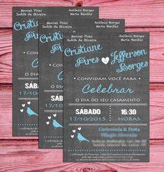 Convite Chalkboard Casamento