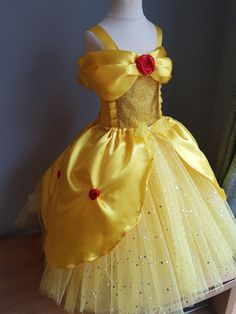 Best 12 Belle Beauty and the beast inspired tutu by LittleSomethingTutus Beauty And Beast Wedding, Beauty And The Beast Party, Belle Beauty And The Beast, Princess Fancy Dress, Princess Tutu, Belle Halloween Costumes, Diy Belle Costume, Diy Dress, Party Dress