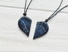 AD: This half heart big dipper pendant necklace makes a unique Valentine's day gift for besties!