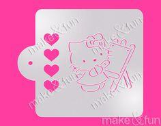 PYO Cookie Stencil Cake Stencil Kitty Stencil Torten by makeandfun