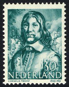 Stamp: Cornelis Tromp (1629-91) admiral (Netherlands) (Heroes at sea) Mi:NL 420,Sn:NL 260,Yt:NL 410,NVP:NL 420