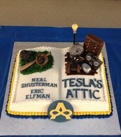 Teslau0027s Attic cake for two incredible authors! & 76 best Neal Shusterman young adult book author images on Pinterest ...