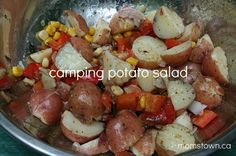 camping potato salad and other camping food ideas