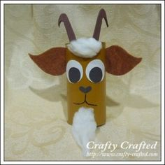 Billy Goat Gruff toilet paper roll craft