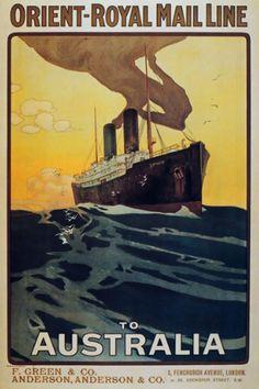 Vintage Australian Cruise poster http://southerncrosscruises.com.au/