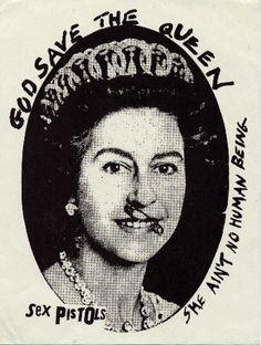 The Sex Pistols-God Save The Queen promo poster/advert. Punk Art, Rock Posters, Band Posters, Music Posters, Rock Indé, Art Design, Graphic Design, Concert Rock, Rock Festival