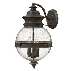 Classic Seeded Globe and Outdoor Sconce - Large