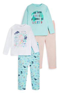 Younger Girl Dolphin Print Pyjamas 2 Pack | Kids Pyjamas | Boys Clothes | Kids Clothes | All Primark Products | Primark UK Boys Jeans, Boys T Shirts, Primark Uk, Girls Sleepwear, Kids Clothes Boys, Girls Pajamas, Girls In Leggings, Boys Shoes, Pyjamas