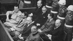 Photo: Herman Goering, Rudolf Hess, Joachim Von Ribbentrop, and Wilhelm Keitel in the Dock at Nuremberg : Alfred Jodl, Julius Streicher, Karl Dönitz, Wilhelm Keitel, Hiroshima E Nagasaki, Joachim Von Ribbentrop, Germany, November, History