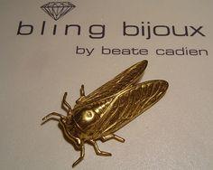 Zikadenbrosche,  Cicada brooch