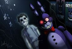 Fnaf - Bonnie and his ghost by LadyFiszi.deviantart.com on @DeviantArt
