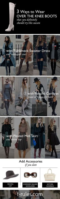 Over-the-Knee boots trend is gaining popularity again! We will talk about how to wear it.