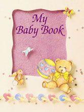 Our most popular baby book makes a wonderful gift for new parents with plenty of room for photos and other valuable items. Features the babys name, date of birth, and much more. $15.95 Personalized Baby Books http://www.kdnovelties.com/baby-books/my-baby-book/personalized_55.html