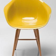 Židle s opěrkou ruky Forum Wood Mustard