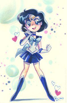 Awesome Sailor Mercury fan art :) http://little--root.tumblr.com/post/77618417719/potatofarmgirl-im-done-drawing-sailor-scouts