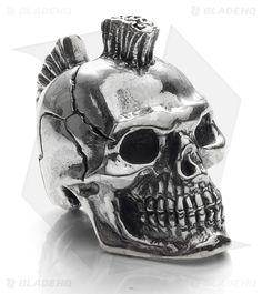 GD Skulls Mohawk Skull I Bead Silver - Blade HQ
