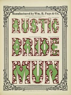Specimens of Chromatic Wood Type and Borders (1874) – The Public Domain Review
