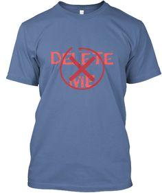 De Le Te  M E Denim Blue T-Shirt Front