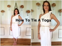 homecoming week themes How To Tie A Toga Tutorial Diy Costumes, Costumes For Women, Pirate Costumes, Toga Party Costumes, Toga Halloween Costume, Roman Costumes, Deer Costume, Turtle Costumes, Cowgirl Costume