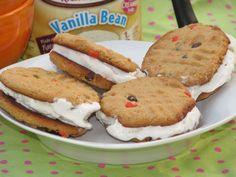 ice cream peanut butter cookie sandwich