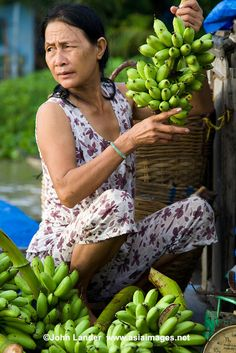 Phong Dien Floating Market Bananas, Mekong River Delta, Vietnam