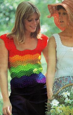 Crochet RAINBOW Tank Top