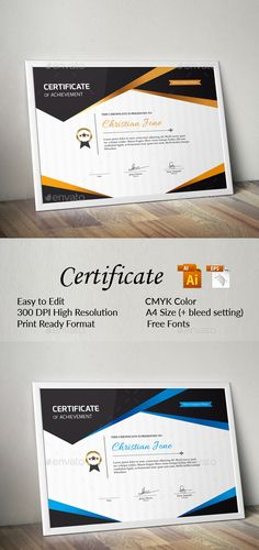 Certificate certificate certificate design and stationery templates certificate template vector eps ai illustrator yelopaper Images
