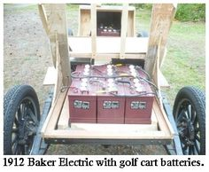 1912 baker electric car with golf cart batteries