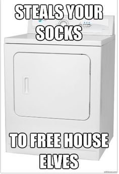 Misunderstood Dryer...glad my socks are going towards a good cause