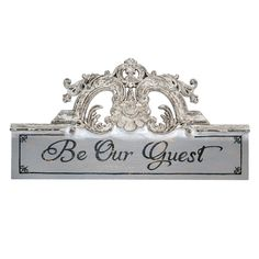 "Find the Be Our Guest Wall Sign by Ashland® at Michaels. Hang this ""Be Our Guest"" sign on your porch to beautifully transform your outside décor. Be Our Guest Sign, Bliss Home And Design, Porch Wall, 21st Century Homes, Vintage Romance, Graphic Quotes, Going Out Of Business, Michael Store, Buy Fabric"