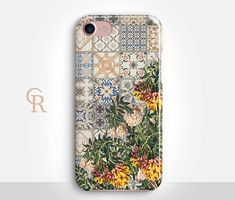 Floral Mosaic Phone Case Case For iPhone 8 iPhone 8 Plus