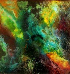 """opera astratta, titolo """"Equilibri"""" stucco, resine, colori acrilici"""