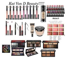 """""""Kat Von D Beauty!!!!!"""" by minadinamike on Polyvore featuring beauty and Kat Von D"""