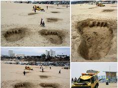 """ESPECTACULAR activación en la playa para promocionar la peliula """"King Kong"""" en 3D. MEMORABLE!!!"""
