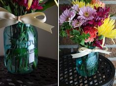 A permanent was to tint your mason jars. This tutorial uses paint made for tinting glass instead of food coloring.