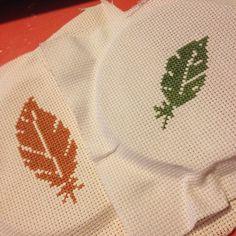 Feather cross stitch