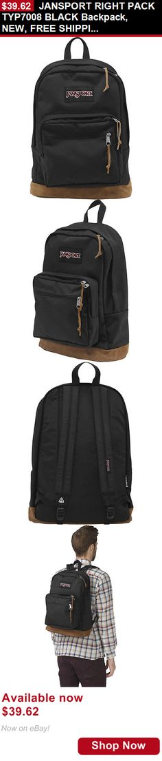 Unisex accessories: Jansport Right Pack Typ7008 Black Backpack, New, Free Shipping BUY IT NOW ONLY: $39.62