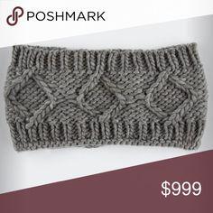 ✨LAST ONE✨NWT Gray Diamond Knit Headband NWT.  Super cute gray knit headband. Accessories Hair Accessories