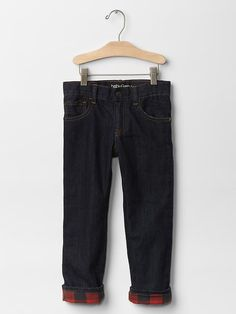 1969 flannel-lined straight jeans Product Image