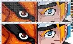 Anime Pixel Art, Art Anime, Diy Perler Beads, Perler Bead Art, Bead Loom Patterns, Perler Patterns, Cross Stitch Designs, Cross Stitch Patterns, Cross Stitch Embroidery