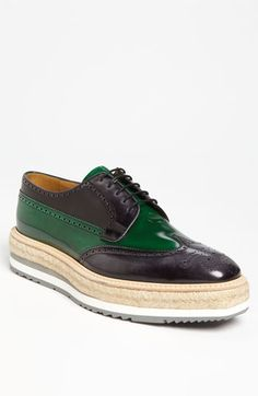 Prada Double Sole Wing Tip Oxford available at #Nordstrom