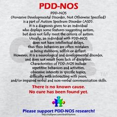 PDD-NOS Facts....Here we go, Em! Since we never really knew. @Emily Schoenfeld Jensen