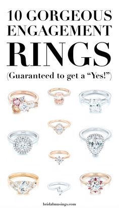 """Our rundown of 10 gorgeous engagement rings guaranteed to get you a """"Yes!"""" when you pop the question."""