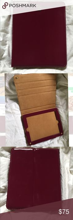 Tory Burch Robinson patent leather iPad case Tory Burch Full size iPad case- Robinson patent saffiano leather. Flip e-tablet stand. Deep fuchsia color. Great condition! Tory Burch Accessories Tablet Cases