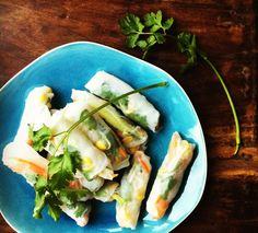 Vietnamese Salad Rolls with Peanut Dipping Sauce-trying to recreate wanderlust!