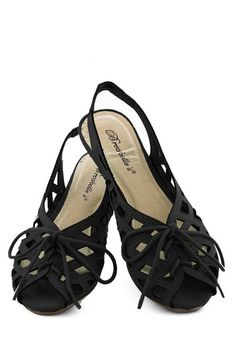 I'd Lovesome Sandal in Black, #ModCloth