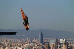 Roseline Filion of Canada competes in the Women's 10m Platform Diving final  on day six of the 15th FINA World Championships at Piscina Municipal de Montjuic on July 25, 2013 in Barcelona, Spain.